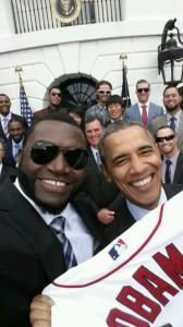 Big Papi took a selfie with the President, which then became an internet sensation.