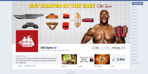 Old Spice does a good job of keeping the tone and look of its Twitter, Facebook and YouTube pages cohesive.