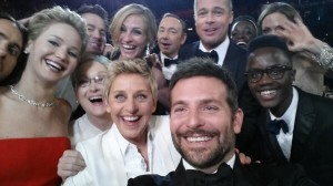 The famous Oscar selfie that became the most retweeted picture ever.